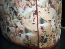 Pigs & Piggies Quilted Fabric 2-Slice or 4-Slice Toaster Cover NEW