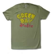 "GREEN DAY ""DOOKIE"" OLIVE GREEN T-SHIRT NEW OFFICIAL ADULT PUNK BAND MUSIC"