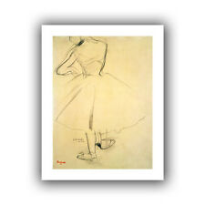 Ballet Dancer from Behind' by Edgar Degas Painting Print on Rolled Canvas