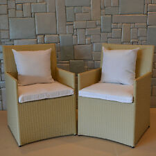 Wicked Wicker Furniture Wicker Chairs with Cushions Set of 4