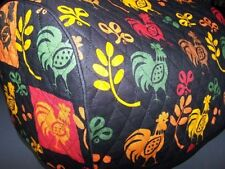 Rustic Harvest Roosters Quilted Fabric 2-Slice or 4-Slice Toaster Cover NEW