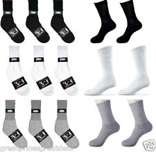 4~12 Pairs Mens Knocker Sports Cotton Crew Socks Solid Athletic Size 9-11 10-13
