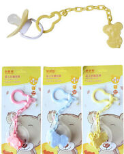 Safety Cute Baby Infant Dummy Soother Pacifier Chain Clip Holder Toddler Gift