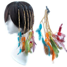 Fashion True Dyed Chiken Feather 30cm Long Clip in Feather Hair Extension Lot