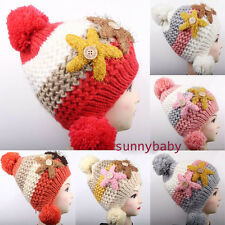 Stylish Lady Knitted Wool Starfish Beret Braided Baggy Ski Cap Girl Beanie Hat