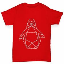 Twisted Envy Girl's Geometric Penguin Rhinestone Diamante T-Shirt