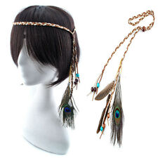 Fashion Bohemia True Peacock and Duck Feather Hair Extension Lot