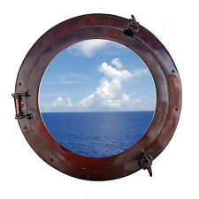 Handcrafted Nautical Decor Deluxe Class Porthole Window Wall Décor