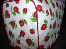 Wild Strawberry Quilted Fabric 2-Slice or 4-Slice Toaster Cover NEW