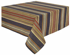 Traders and Company Prairie 100% Cotton Striped Tablecloth
