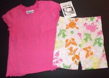 Butterfly floral shorts set pink swing top toile girls 2T 3T NWT Flap Happy