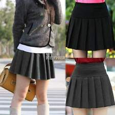Hot Fashion Women's Stretch Waist Pleated Skater Flared Tennis Skirt Mini Skirts