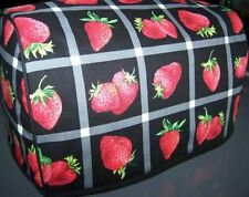 Strawberry Panes Quilted Fabric 2-Slice or 4-Slice Toaster Cover NEW