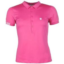 K Swiss Womens Polo Shirt Ladies Short Sleeve Tee Top Casual Sports