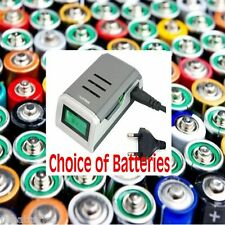 FAST LCD ALKALINE BATTERY CHARGER for AA or AAA EU PLUG NIMH Duracell GP Uniross