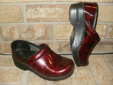Dansko Black or Burgundy Professional Leather Clogs Sz 36 /US 5.5-6 Nice