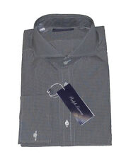 Ralph Lauren Purple Label Italy Mens French Cuff Keaton Black Button Dress Shirt