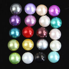 40-100 Pcs Resin Faux Pearl Beads Flatbacks Scrapbooking Wedding Phone Craft