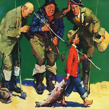 Marmont Hill The Best Fisherman by Curtis Painting Print on Wrapped Canvas