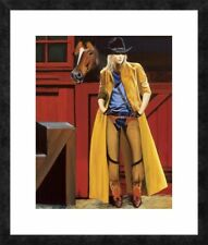 Global Gallery 'Western My Buddy And Me' by David DeVary Framed Painting Print