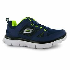 Skechers Kids Flex Advantage Child Boys Running Shoes Lace Up Training Footwear