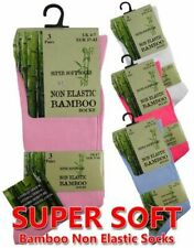 Ladies Non Elastic Bamboo Diabetic Socks 3 Pair Ladies Non Elastic Bambo Socks