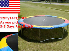 US 12FT 14FT 15FT Trampoline Safety Pad EPE Foam Spring Cover Frame Replacement