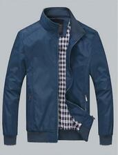 Mens Slim collar jackets fashion Stand Collar New Tops Casual coats outerwears