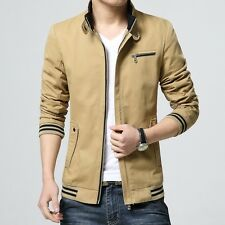 Mens Fashion Leisure Stand Collar Coats Slim fit Thin 2016 Outdoor Coats Jackets