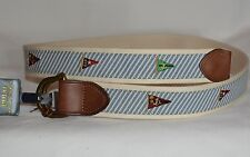 NWT $75 Polo Ralph Lauren Yacht Flag Sailing D Ring Belt Mens Small  Blue NEW