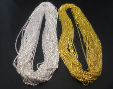 Fashion Silver golden Plated Snake Chain With 8 shape Clasp Necklace 16.5''