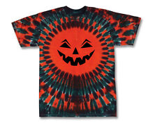 Hand-dyed Tie Dye JACK-O-LANTERN T-Shirt Size Adult SMALL  & YOUTH LARGE