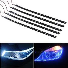 5 pcs 15 LEDs 30cm 5050 SMD LED Strip Light Flexible 12V Car Decor Waterproof J