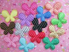 70 Satin Polka Dot Butterfly 1.75 Applique/Craft Sewing/Make Bow H98-Pick Color
