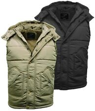 Mens Quilted Hooded Gilet | Padded Bodywarmer | Jacket - 69A