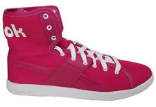 Reebok Top Down Women's Pink Canvas & Leather High Top Convertable Sneakers