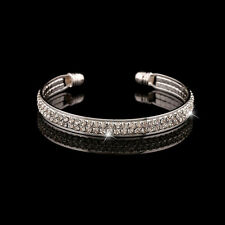 Exquisite Style Crystal Rhinestone Plated Bangle Cuff Women's Bracelet Jewelry
