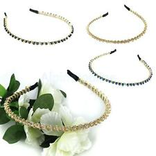 Hot Beads Chain Twined Headband Alice Band Hair Piece with Crystal Rhinestone