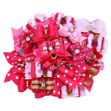Rose Pink Red Dog Pet Hair Bows for girls dog hair bows Topknot groomings