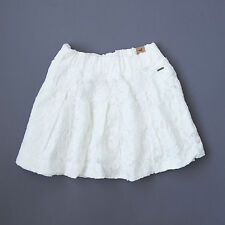 """NWT HOLLISTER HCO  Womens """"Grandview"""" White Floral Lace Min Skirt $59.50 M, L"""