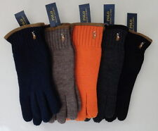 NEW nwt $55 Men's Polo RALPH LAUREN Suede Trimmed Wool Gloves  One Size