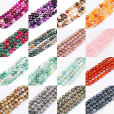Delicate 1Bunch Natural Gemstone Spacer Bead Necklace Jewelry Findings 4-12mm