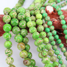 1Bunch Green Natural Gem Spacer Beads Charm Necklace Chain Jewelry DIY 4-12mm