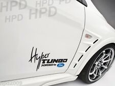 Hyper Tuned Powered By Ford Car Decal Vinyl Sticker Raptor Focus Fiesta RS