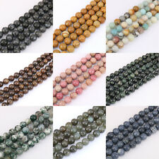 1Bunch 4/6/8/10/12mm Jewelry Beads Gemstone String Loose Round Spacer Bead Stone