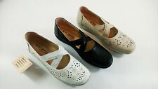 LADIES DR LIGHTFOOT COMFORT ELASTIC SLIP ON SHOES,BLACK WHITE BEIGE SIZES 3-8