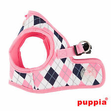 Dog Puppy Harness Soft Vest- Puppia - Argyle - Pink - Choose Size