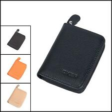 HOT Men Genuine Leather Zip Bifold Small Wallet Credit/ID Card Holder Coin Purse