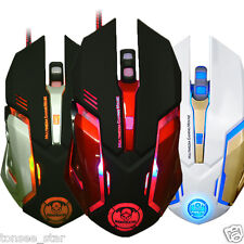 6D,4DPI Level,3200DPI Optical Adjustable Wired Gaming USB Mice Mouse Mechanical