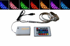 USB LED Strip Battery Box Flexible Light +IR Remote RGB Controller USB Charge